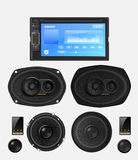 Car audio with speakers. Stock Photos