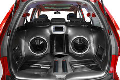 Car audio system. Car luxury power audio system royalty free stock photo