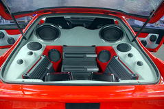 Car audio system Stock Photos