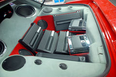 Car audio system. Car power music audio system stock photos