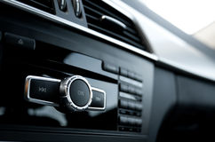 Car audio system. Interior view royalty free stock photos