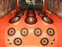 Car audio system. Luxury car hi-fi audio system royalty free stock photos