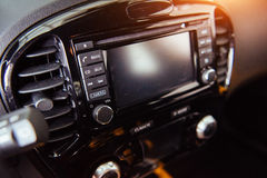 Car audio system front panel Stock Photo