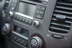 Car audio system front panel Stock Photos
