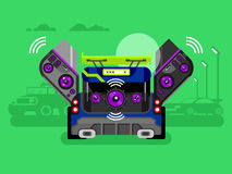 Car audio system Royalty Free Stock Image