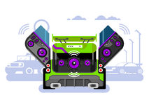 Car audio system Royalty Free Stock Photography