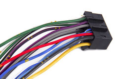 Car audio system wiring cable Royalty Free Stock Images