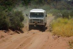 Car in Australian desert Royalty Free Stock Photo