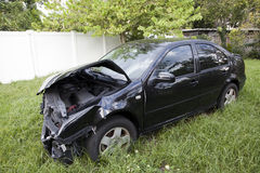 Car after an auto accident reveals damage Royalty Free Stock Photography