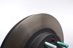 Car Auto Brake Parts. Brake disc of a car by checked for wear royalty free stock photos