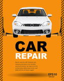 Car auto repair lift. Template layout concept creative color illustration. Cover background Stock Images