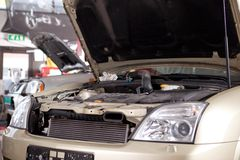Car in Auto Repair Shop Stock Images