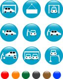 Car Auto service blue button set icon Royalty Free Stock Photo