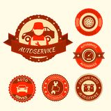 Car auto service set Royalty Free Stock Images