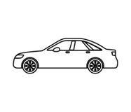 Car auto vehicle isolated icon Royalty Free Stock Image