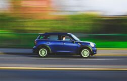 Car on Autobahn, Germany Stock Images