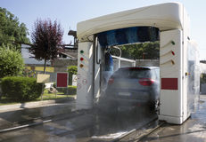 Car in Automatic Washing Stock Photos