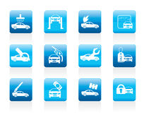 Car and automobile service icon Royalty Free Stock Images