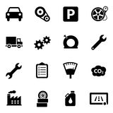Car Automotive Icons Iconset Royalty Free Stock Photo