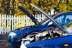 Car autumn assistance Stock Images