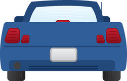 Car Back. Isolated back of blue car Royalty Free Stock Photos