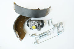 Car back axle brake parts Stock Image