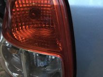 Car Back Lamp. A car's left back lamp royalty free stock photos