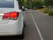 Car back lights Royalty Free Stock Image