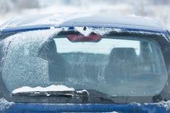 Car back window in winter season. Stock Photography