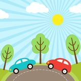 Car background stock illustration