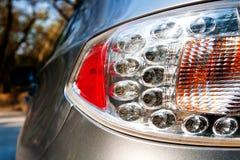 Car backlight. Modern LED car backlight, shot closeup stock photo