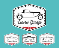 Car badge logo of classic retro motor vehicle icon collection Stock Images