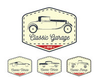 Car badge logo of classic retro motor vehicle icon collection Royalty Free Stock Photos