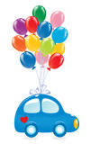 The Car with balloons Royalty Free Stock Photos