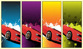 Car banner. With place for your text Royalty Free Stock Image