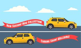Car-Banner copy-2 Royalty Free Stock Images