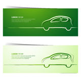 Car banners Stock Image