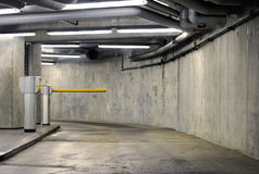 Car Barrier. In a parking garage Stock Images