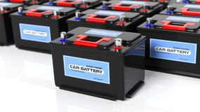 Car batteries Stock Image