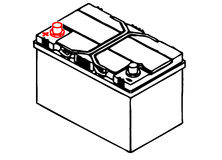 Car battery. Battery for car and mechanics Stock Photo