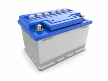 Car battery. 3d. Car battery on white background. Three-dimensional image Stock Images