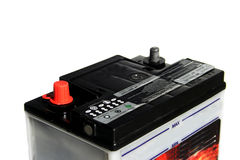 Car battery. On the white background Stock Photo