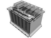 Car battery (assembly drawing) Stock Photo