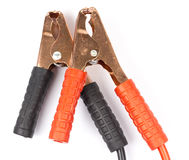 CAR BATTERY BOOSTER STARTER JUMPER CABLE LEAD WIRE Royalty Free Stock Image