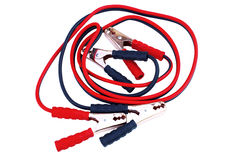 Car battery cables Royalty Free Stock Image
