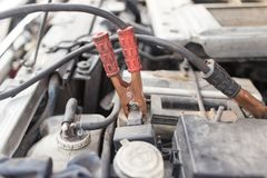 Car battery charger Stock Photo