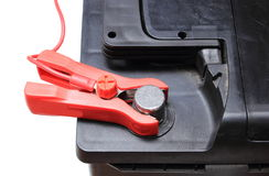 Car battery charging Stock Images
