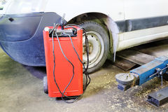 Car battery charging Stock Photography