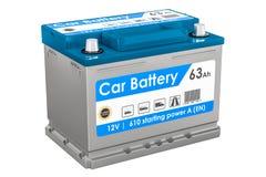 Car Battery closeup, 3D rendering Stock Photography
