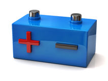 Car battery icon. 3d illustration of car battery icon Royalty Free Stock Photos